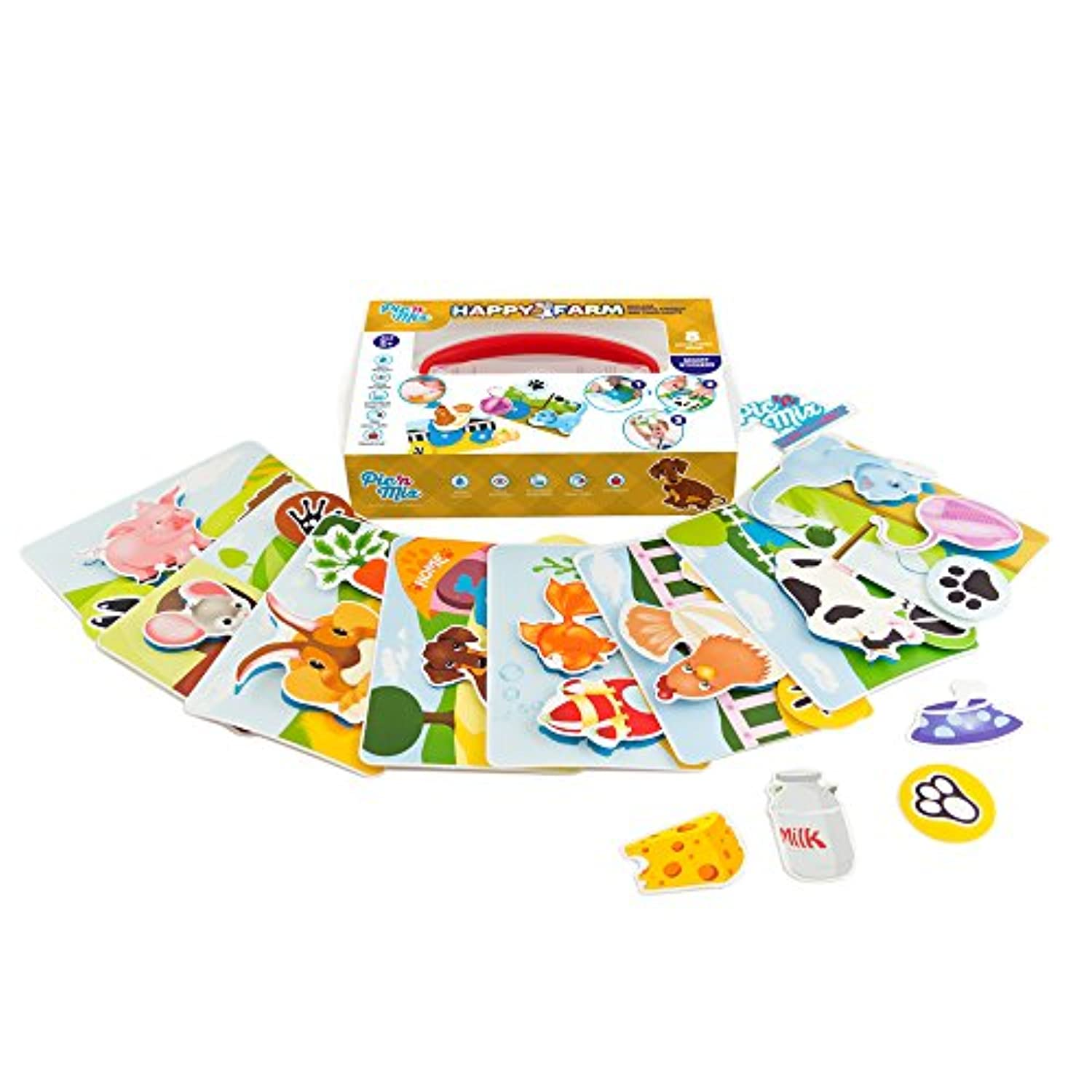 (Happy Farm) - Picnmix Happy Farm Educational and Learning Puzzle Game and Toy for 3 year olds to 7 year olds
