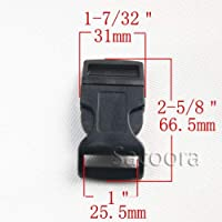 "YBAA 10 Pieces/Pack 5/8"" 3/4"" 1"" Profile Side Release Buckle for Bracelet/Dog Collar Black (Color : Antique Copper)"
