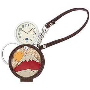 [フィールドワーク]Fieldwork 懐中時計 富士山 ルーペ 付き レッド LW046-3 懐中時計