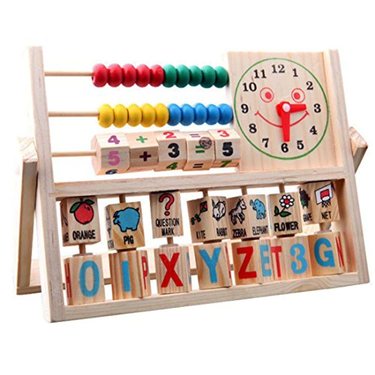 (A) - NEW Educational Toys,Hemlock Toddler Learning Developmental Flap Abacus Wooden Playing Toys (A)