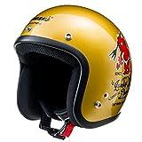 TEDMAN(テッドマン) ジェットヘルメット TMH-12 TEDバイク ゴールド(艶有り) Lサイズ TMH-12