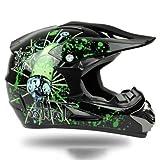 バイクヘルメット オフロード バイク用品 軽量ヘルメット ゴーグル付き AH-255 PSC付き L