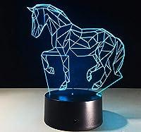 馬は家の装飾として動物3D LEDの電気スタンドを変える夜ライトUSB 7色を導きました