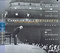 Rubinstein Collection 42: Live at Carnegie Hall