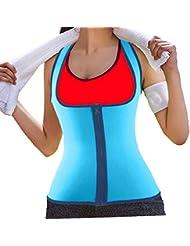 DODOINGネオプレンボディシェイパースリミングウエストサイズシャツトレーナー腹部ウエスト補正下着ベストのジッパーの重量損失