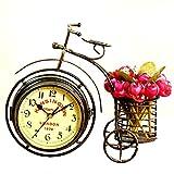 ZooooM ヨーロピアン ビンテージ おしゃれ 自転車 型 両面 文字盤 置 時計 小物 入れ 付き ブロンズ プレゼント ギフト ZM-CL2127