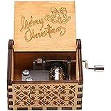 Qiilu オルゴール 彫刻オルゴール 音楽ボックス アンティーク 木製 機械式 癒しグッズ おしゃれ 雑貨 装飾 バレンタインデー 誕生日プレゼント(メリークリスマス)
