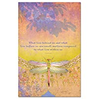 tree-free Greetings Ecoノート12Count Notecardセットwith封筒、4x 6インチ、What Lies BehindテーマInspiring Quote Art (66558)