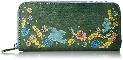 [ホコモモラ] 「パーヴォ」ラウンドファスナー型長財布 「パーヴォ」ラウンドファスナー型長財布 5381102 50 グリーン