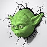 スターウォーズ ヨーダ 3D デコレーションライト マスク/STAR WARS  壁掛け 3D Deco Light