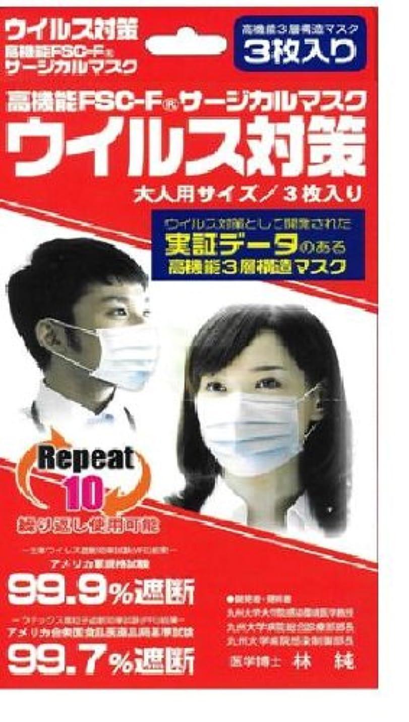 寝室を掃除するリーダーシップマーケティング高機能FSC-Fウイルス対策マスク 3枚