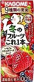 カゴメ 冬のフルーツこれ一本 いちご&フランボワーズブレンド200ml