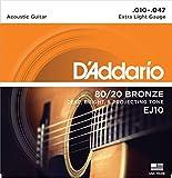 Best ダダリオアコースティックギター - 【3セット】 D'Addario ダダリオアコースティックギター弦 EJ-10 〔np〕【Ebiオリジナルピック付】 Review