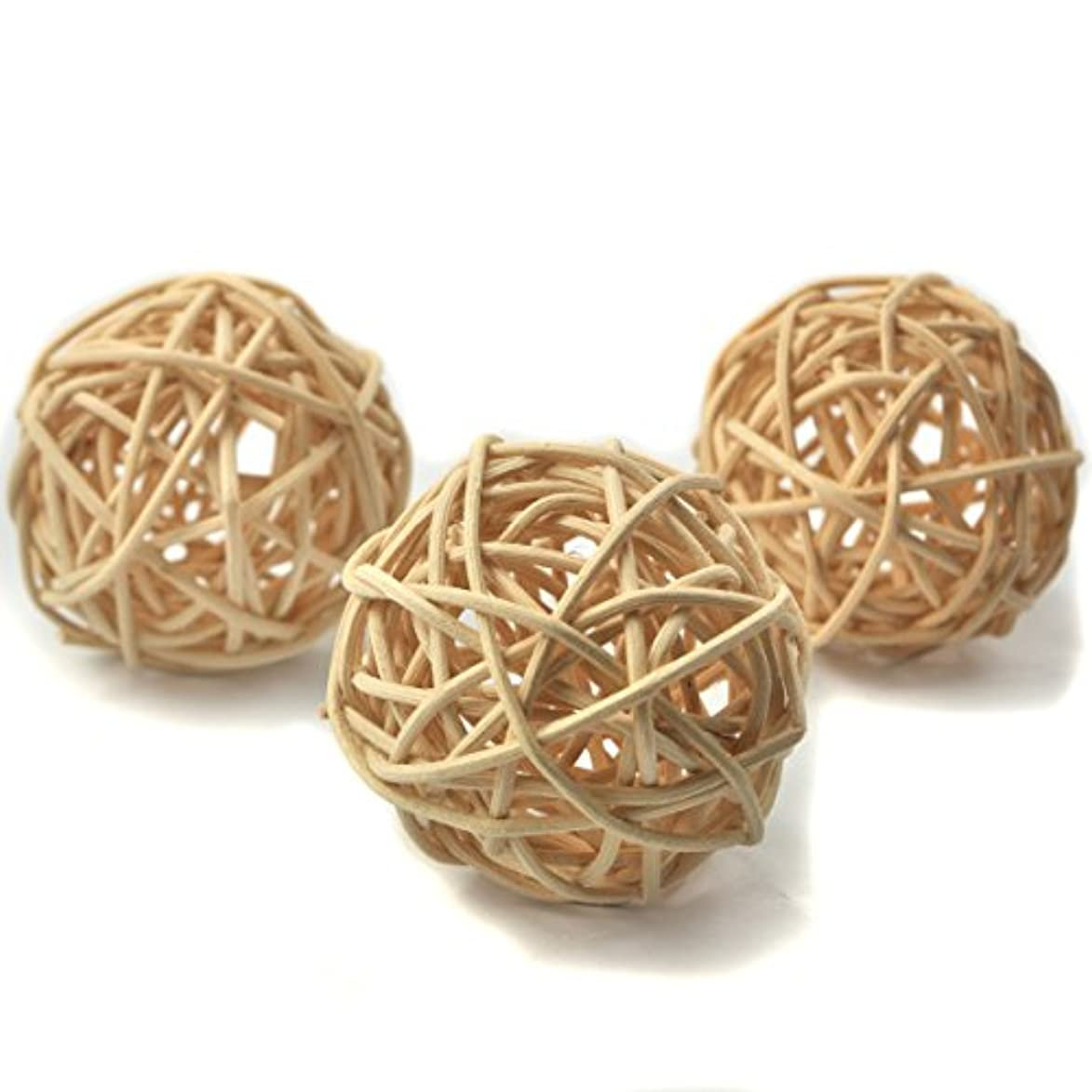 申し立てる大型トラック腐敗した(Diameter 6cm, Natural Color) - Ougual Set of 10pcs Wicker Rattan Balls Table Wedding Party Christmas Decorative...