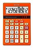 シャープ カラーデザイン電卓 ミニナイスサイズタイプ 12桁 トパーズオレンジ EL-M822DZ