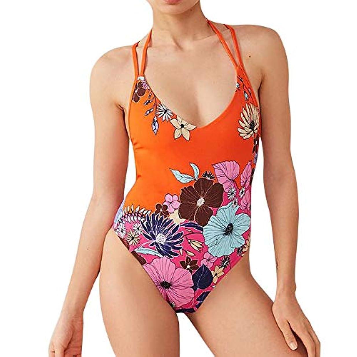 ボランティアゴネリル彼女のREWAGO 水着レディース ビキニ ワンピース セパレーツ セクシー 欧米人気 美胸 Vネック ホルダーネック 紫外線防止 肌守り 背中開き おしゃれな水着 ファッションな柄 海水浴 温泉 海外旅行