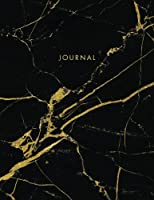 Journal: Classic Black and White Marble with Gold Inlay and Lettering - Marble & Gold Journal | 150 College-ruled Pages | 8.5 x 11 - A4 Size (Marble and Gold Collection - Journal, Notebook, Diary, Composition Book)