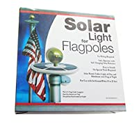 Jeronic Solarフラッグポールライト、第5世代最も明るい、最も強力な、長い& Mostフラグcoverage with state-of-artテクノロジー、LEDダウンライトライトUpフラグのための最も15を旗竿25ft夜イルミネーション、6ソーラーパネル