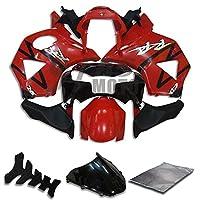 9FastMoto honda ホンダ 2002 2003 CBR900RR 954 02 03 CBR900 RR 954 用フェアリング オートバイフェアリングキット ABS 射出成形セット スポーツバイク カウル パネル (レッド & ブラック) H0603