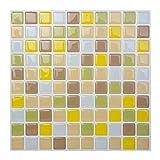 ハンファL/C HanhwaL/C ボダクタイルBodaq Tiles キッチン 洗面所 トイレの模様替えに最適のDIY 壁紙デコレーション (5枚) (スクエアフリージアイエロー(SQW06)) [並行輸入品]