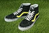 【新入荷】VANS ヴァンズ バンズSK8-HI REISSUEスケーターハイ レイシュー(NEON LEATHER)BLACK/NEON(ネオンレザー ブラック/ネオン)メンズ レディース 靴 スニーカー ハイカット スケート 黒 黄色 即納,MENS US8(約26cm)