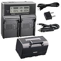 KastarバッテリーLCDデュアル高速充電器for Topcon bt-60q bt-61q bt-62q bt-65q bt-66q gms-2ch04-bt65q-2