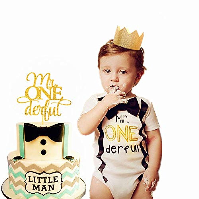 JeVenis 飾り付け (3点セット)バースデー 飾り セット バルーン かざりつけ 一歳 ゴールデン ゴールデンクラウンボーイ誕生日パーティーの装飾