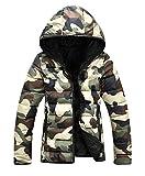 ハイハイワールド(H-H-W) ライト ダウン ジャケット フード付き メンズ ダウンコート 防寒 軽量 (6.迷彩, 03.XL)
