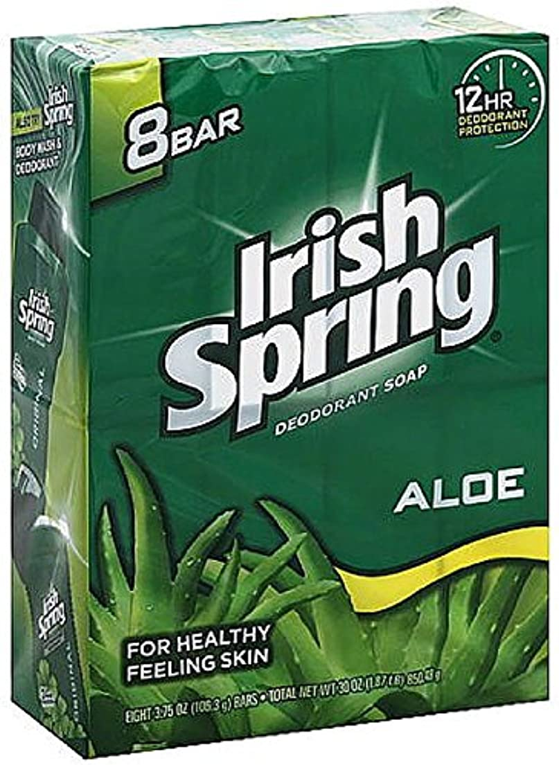 明るい詐欺取得Irish Spring アロエデオドラント石鹸、3.75オズバー、8 Eaは(9パック)