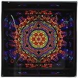 ニューバランス おすすめ mimuluxのサイケデリックアート–Mandala 4曼荼羅インド仏教Hinduism Psychedellic New Ageハーモニーバランス瞑想–タイル 4-Inch-Glass ct_24832_5