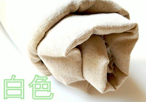 コットン リネン 綿 麻 無地 生地 吸水 速乾 抗菌 に 優れた 天然 素材 (白 2m)