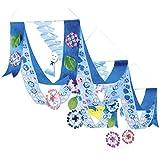 アジサイプリーツ2連ペナントハンガーL160cm /紫陽花?梅雨?ディスプレイ?装飾?飾り  22263