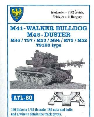 フリウルモデル 1/35 金属可動履帯 M41用 金属パーツ ATL-80