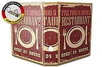 バインダー 2 Ring Binder Lever Arch Folder A4 printed Restaurant