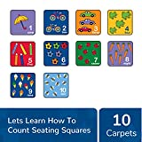 Learning Carpets Seating Squares Counting番号とイメージ、1色、1サイズ用