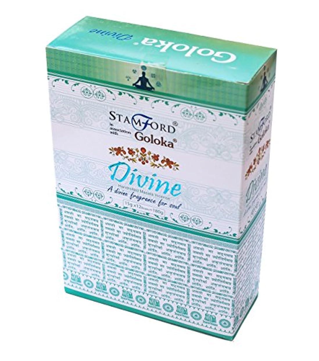 強風参加者より多いGoloka Divine Incense Sticks – 15 gms ブラウン Goloka Divine Incense