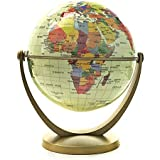 Bellaa 20454 World Globe Ocean Desktop Swivel and Tilt All Direction Perfect for Small Spaces at Home, Office & Classroom 6 inch Color