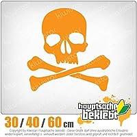 KIWISTAR - Death Head - Death Symbol - Pirate Character 15色 - ネオン+クロム! ステッカービニールオートバイ