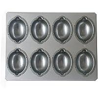 日本製 シリコン加工 天板 (レモンケーキ型8個取(レモン型天板))