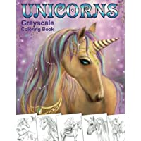 Unicorns. Grayscale Coloring Book: Coloring Book for Adults