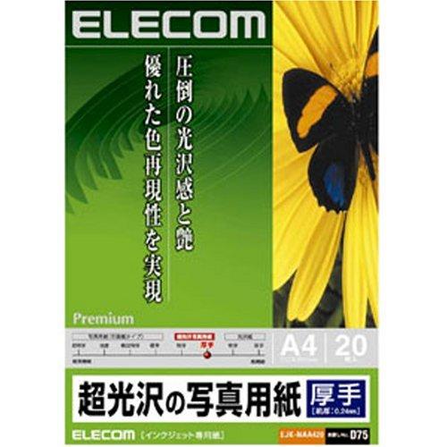 超光沢の写真用紙 厚手 EJK-NAA420 [A4 20枚]