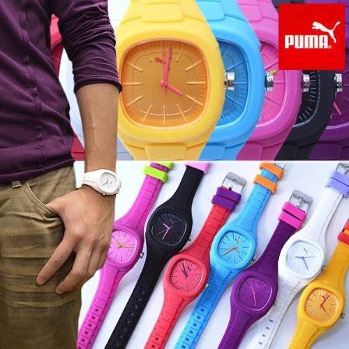 腕時計 PUMA TIME プーマ タイム ラバーベルト ユニセックス (パープル)