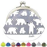 がま口 3.3寸 しろくま 財布 ホワイト 日本製 ハンドメイド 白クマ