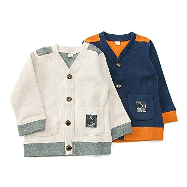 La Chiave (ラ キエーベ ) カーディガン (80~130cm) キムラタンの子供服 (53307-173) ライトベージュ 110