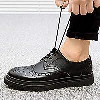 HPLL 靴 メンズカジュアルシューズ、シューズの秋と冬の黒を助けるために低いビジネスシューズ37から44ヤード (色 : A, サイズ さいず : 38)