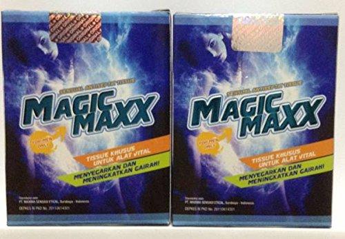 マジックマックス Magic Maxx ウエットティッシュ (8枚入) 2箱セット [並行輸入品]