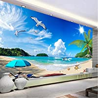 Clhhsy カスタム3D写真壁紙夏シービューサンシャインビーチ写真撮影の背景の装飾壁画リビングルームの壁紙現代-400X280Cm