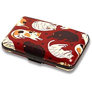 くろちく カードケース アコーディオン型 和柄 猫だらけ 71506805
