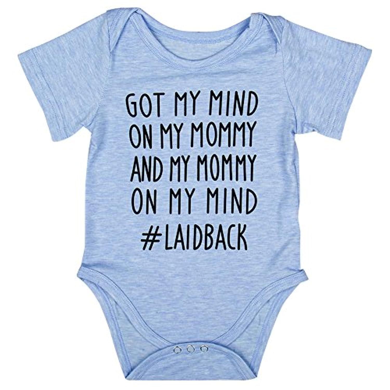 Liebeye 幼児半袖ボディスーツ 赤ちゃん ロンパース 夏 子供 服装 ブルー