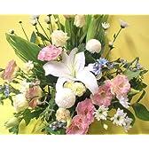【お盆・お供え花】お供えのお花(白&淡色ミックス) FL-OS-10